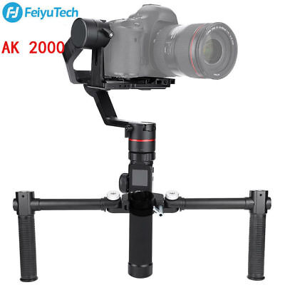 Feiyu AK2000 3-Axis Handheld Gimbal Stabilizer Dual Handle Grip Photography Kit