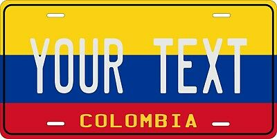 Colombia Flag License Plate Personalized Car Auto Bike Motorcycle Custom Tag