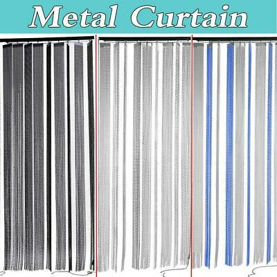 Aluminium Chain Link Insect Fly Door Curtain Blinds Screen Pest Control Summer