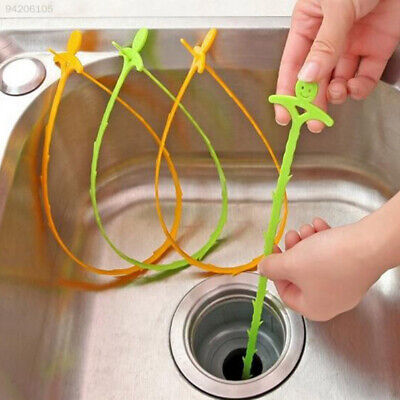 D3BB Practical Smiling Face Designed Sink Floor Cleaning Hooks Device Tools