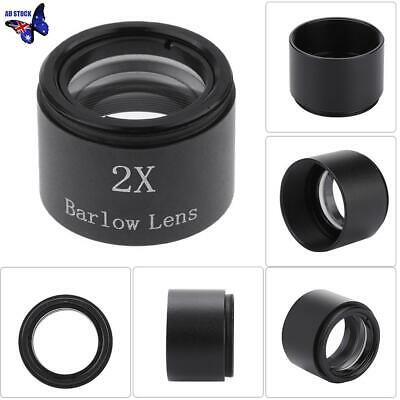 1.25'' 31.7mm 2x Magnification Barlow Lens Alloy for Telescope Eyepieces Black