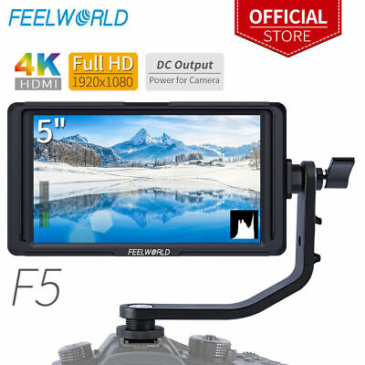 "Feelworld F5 5.0"" IPS HDMI 1920x1080 160°Wide Angle For DSLR Mirrorless Camera"