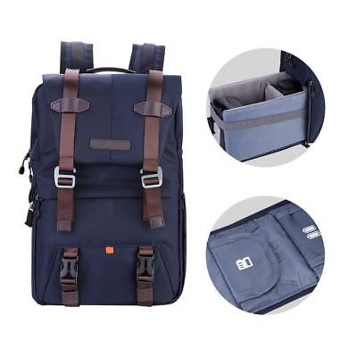 K&F Concept Backpack Padded Camera Bag Case Cover for Canon Nikon Sony DSLR