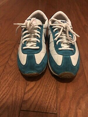 the latest 67449 76c8d Vtg Nike Sneakers Womens Sz 7 Cortez Waffle Racer Oceana Suede Classic 2012