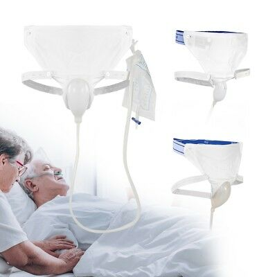 Incontinence Urine Collector Silicone Man Woman Elderly Urinal with Catheter Bag