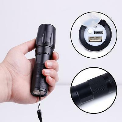 X-XML-T6 5000 Lumens 3 Modes Flashlight Zoomable Durable Micro USB Charging  BE