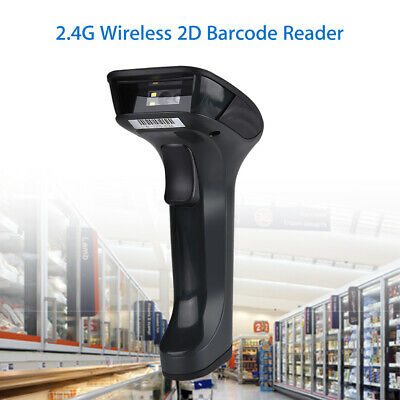 Portable 2.4Ghz Wireless 2D Barcode Scanner Bar Code Reader with Charging Base