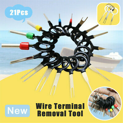 21Pcs Car Wire Terminal Removal Wiring Connector Pin Extractor Puller Hand Tool