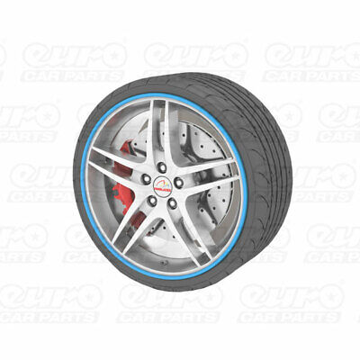 "Universal Alloy Wheel Protector Fits Wheels Up To 22"" Prevents Kurb Marks Blue"