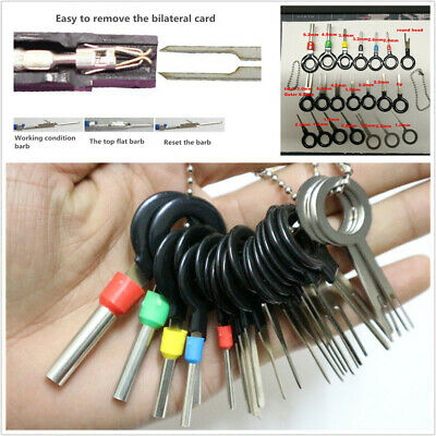 21Pcs Car Terminal Removal Electrical Wiring Crimp Connector Pin Extractor Kit