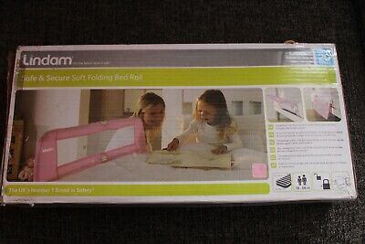 Folding Bed Rail, Lindam, Pink