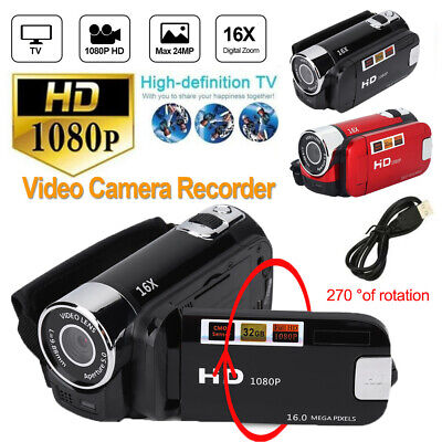 "4K FHD 1080P 48MP DV Camcorder 16X 3"" TFT LCD Touch Screen Wifi Video DVR Camera"