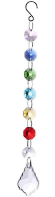 Chakra Crystal Sun Catcher Catchers Chandelier Crystals Prism Rainbow Maker UK