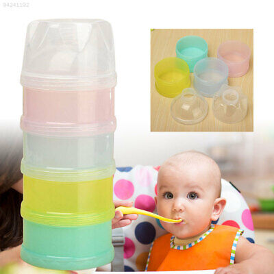 0A1A 4 Layers Milk Powder Formula Dispenser Travel Kids Baby Feeding Container*
