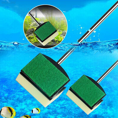 0A6D Glass Fish Tank Yellow Cleaning Cleaner Tool Aquarium Brush Random Color