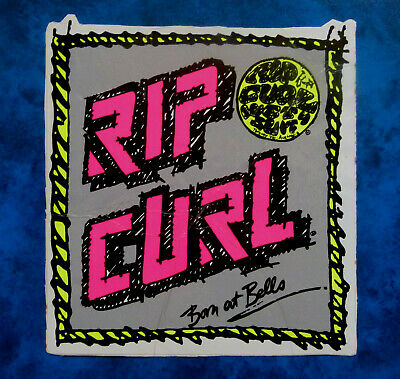RIP CURL .. BORN AT BELLS ..  LARGE Original Vintage  1980,s Surfing sticker