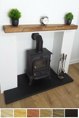 Mantel Shelf 6x3 Floating Shelf Solid Wooden Beam Rustic Reclaimed Mantle
