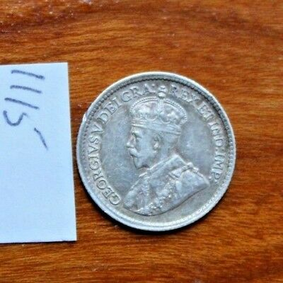 1919 Five 5 Cents Silver Canada,Canadian Silver Coin,Queen Victoria