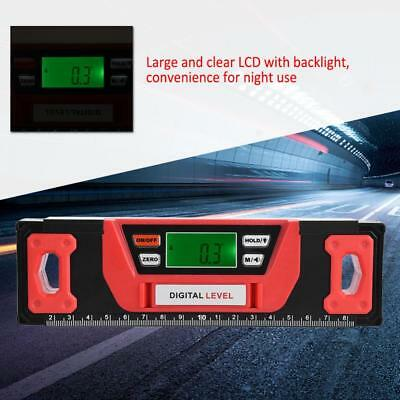 360° LCD Blacklight Digital Magnetic Angle Finder Level Inclinometer 200-600mm