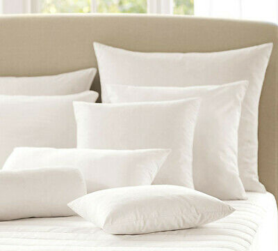"""DUCK FEATHER CUSHION PADS Inner Inserts Fillers Scatters 16"""" 18"""" 20"""" 22"""" 24"""""""