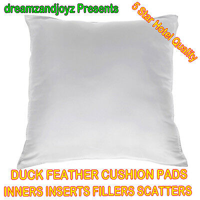 """New Duck Feather Cushion Pads Inners Inserts Filler Scatters 16"""" 18"""" 20"""" 22"""" 24"""""""
