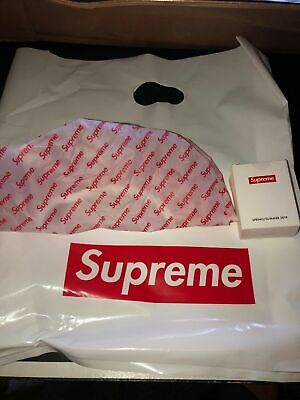 NEW Supreme SHOWER CAP SS19 Opening Gift In Hand 100% AUTHENTIC - Free Sticker