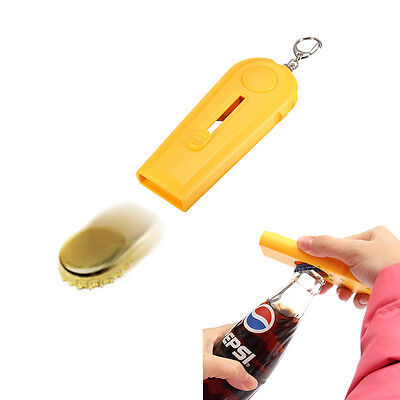 Creative Bottle Beer Opener Tool Flying Cap Launcher Key Rings Chain Typical
