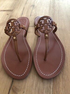 0d3ca280b9433b NWB TORY BURCH Mini Miller Veg Leather Thong Sandals Royal Tan Size ...