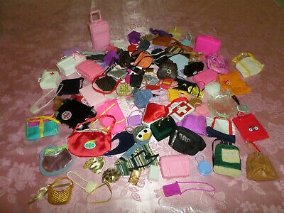 Huge Lot of Barbie and other dolls bags/purses.