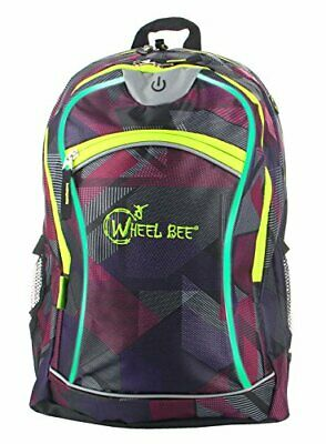 Schildkroet Funsports Wheel Bee Mochila con Luces LED, Unisex Adulto, Morado, M
