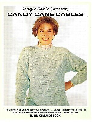 MAGIC CANDY CANE CABLES by Ricki Mundstock-Cables without Transferring! PC, Elec