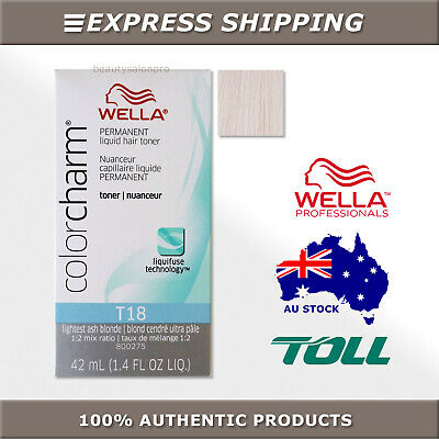 OUT OF STOCK: PRE-ORDER Wella Color Charm T18 Lightest Ash Blonde Hair Toner