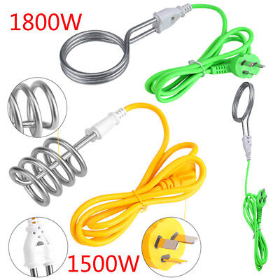 220V 1500/1800W Water Heater Electric Immersion Element Boiler High Power Green