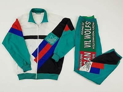 ADIDAS ORIGINAL Customized Track Suit Soccer Anni 80 Multicolour Taglia L