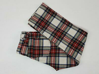 WOOL CHECK PANTS Five Pockets Fashion Anni 90 Vintage Multicolour Taglia 46