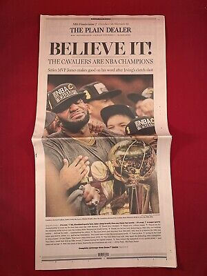 65259f9e1fb 6 20 16 Cleveland Cavaliers NBA Champs 2016 Lebron James Plain Dealer  Newspaper