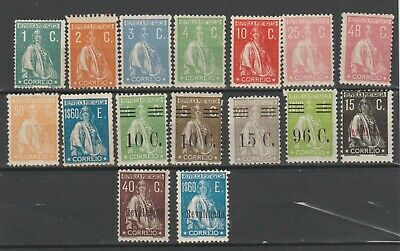 PORTUGAL-CERES TYPE ALL 12 x 11.5 EXCEPT 1C INCLUDES SURCHARGES & REVALIDADO, MM