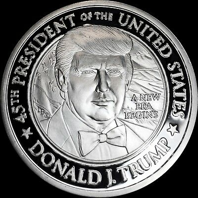 DONALD & MELANIA TRUMP COMMANDER .999 Silver 1 TROY OZ COIN ONLY 1500 MADE!!