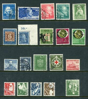 GERMANY 1949-53 Fine used Lot 20 Stamps Mi EURO 570
