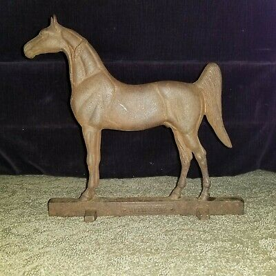 Virginia Metal Crafters 1938 Williamsburg Horse Equestrian Iron Doorstop signed