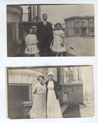 "1913 SAN FRANCISCO 399 Webster St Chinese Cook CHIN 3 Photos 3 1/4"" x 5 1/2"""