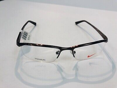 01d038a585 NEW Nike Titanium 6037 (259) Satin Brown Bronze 53-17 135 Eyeglasses Frame