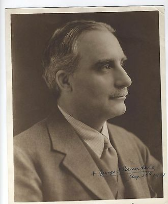 1927 THEOSOPHICAL SOCIETY GEORGE ARUNDALE Signed photo Esoteric Occult