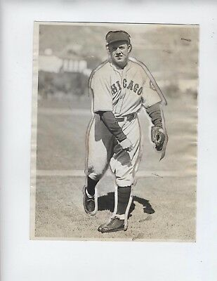 1932 Press Photo BURLEIGH GRIMES of the Chicago Cubs Hall Famer Pitcher 6.5x8.5