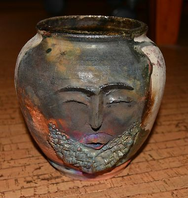 Fred Wilson African American artist pottery rare New Mexico RAKU from artist