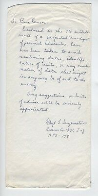 WW2 442nd Japanese American Go for Broke RCT  US Army LETTER 1945 GREAT CONTENT