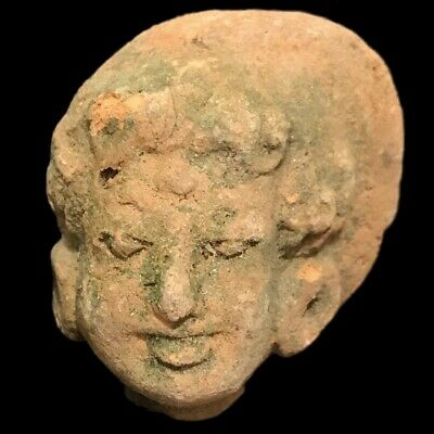 Indus Valley Pottery Male Bust 2000 B.c. Bronze Age (2)