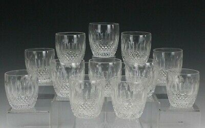 Set OF 12 Waterford Deep Cut Crystal Colleen Old Fashion Tumbler Glasses NR NFD