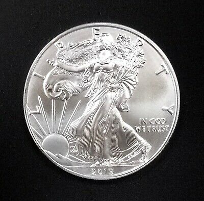 2019 American Silver Eagle! 1 Troy Oz. of 0.999 Fine Silver! NO RESERVE!