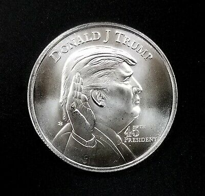 Donald Trump 45th President, 1 Troy Oz. 0.999 Fine Silver Round! NO RESERVE!